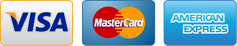 We accept Visa, Mastercard, & American Express