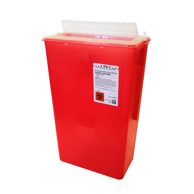 14 qt. Horizontal Entry Sharps Container, 10/case