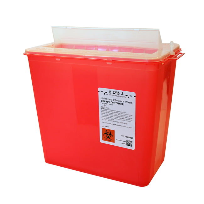 8 qt. Horizontal Entry Sharps Container, 20/case