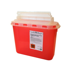 5.4 qt. Sharps Disposal Container, 20/case