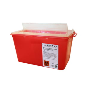 4 qt. Horizontal Entry Sharps Container, 25/case